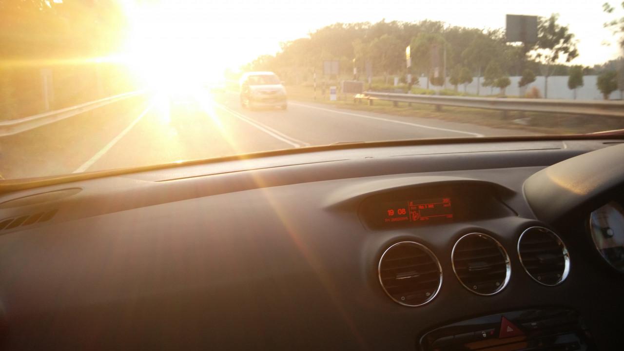 AMC APP black car interior sun HiRes