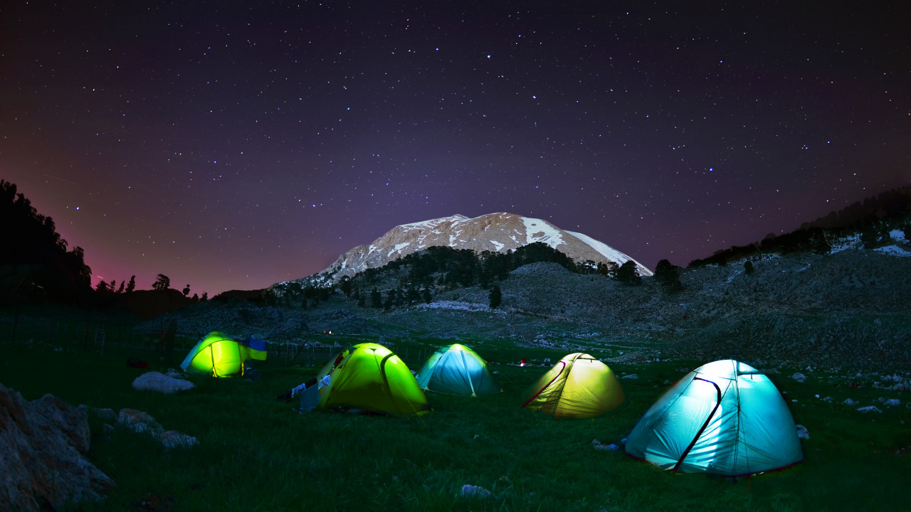 PLA APP camping tent night HiRes
